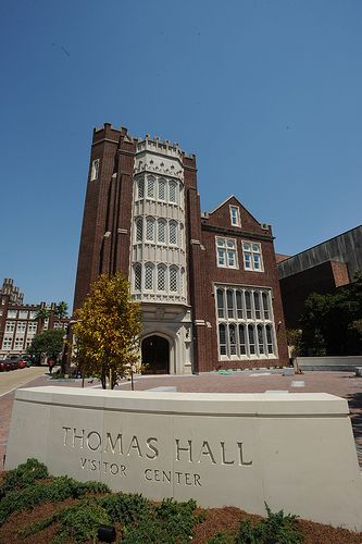 The Front of Thomas Hall