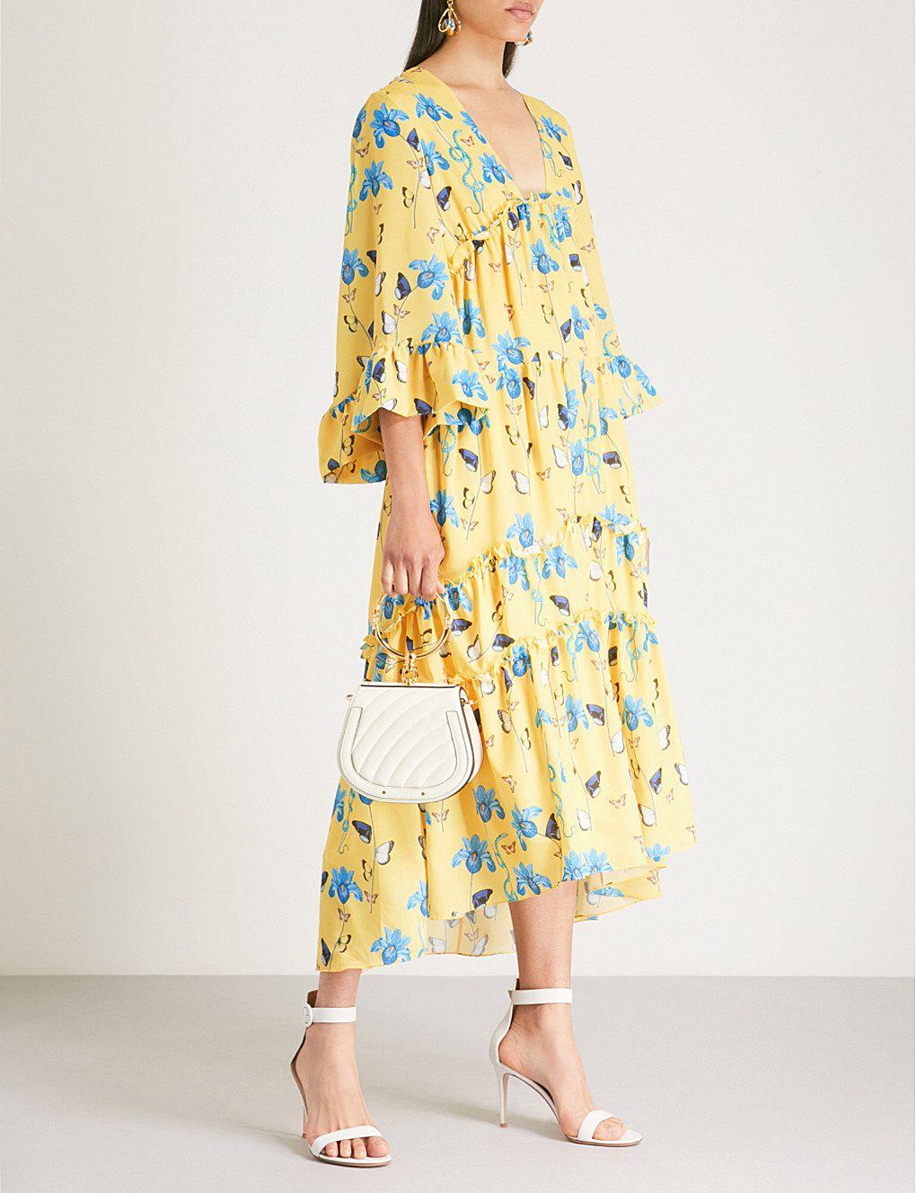 582f0f0aa09a BORGO DE NOR - Iris printed crepe midi dress