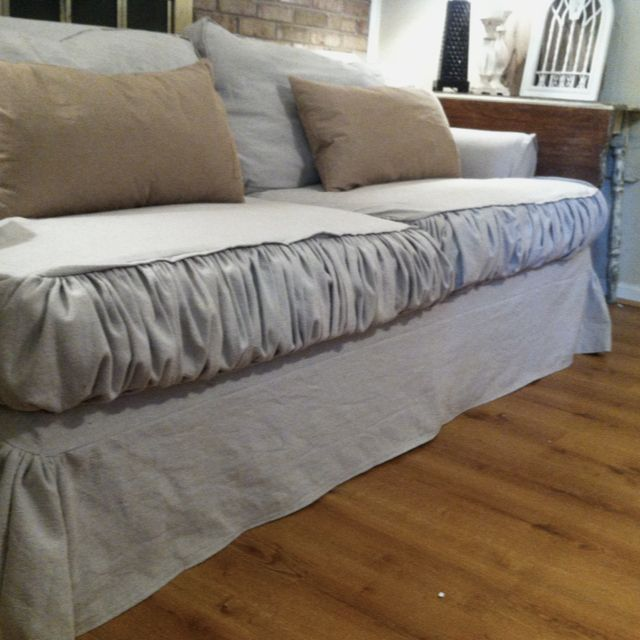 Drop cloth slipcover For the Home Pinterest Drop cloth