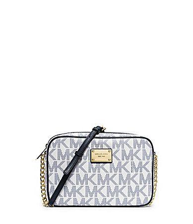 953b1e42cf4c32 MICHAEL Michael Kors Jet Set Travel Signature Large CrossBody Bag #Dillards