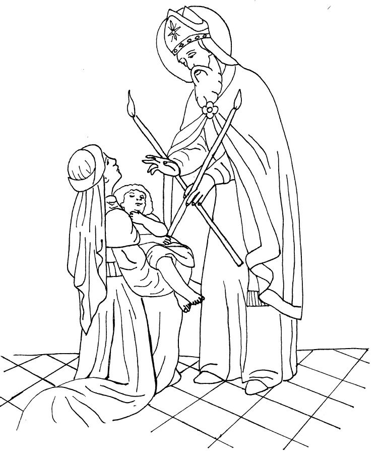 St Blaise Coloring Page For Our Anointing Sunday Remembering St