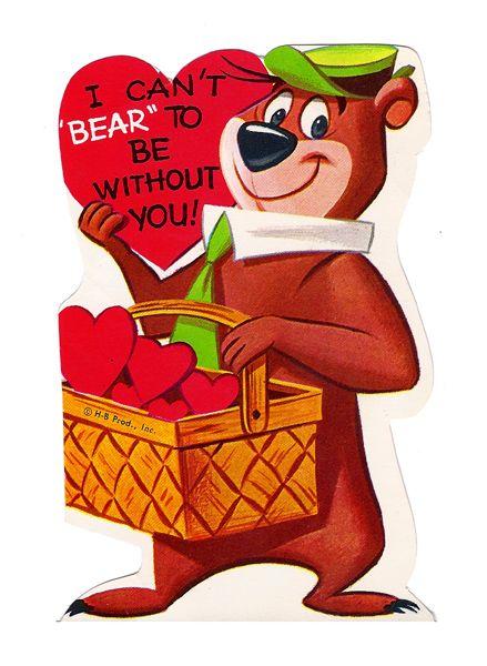 Yogi Bear Vintage Valentine 1960 S Bear Valentines Vintage Valentines Retro Valentines