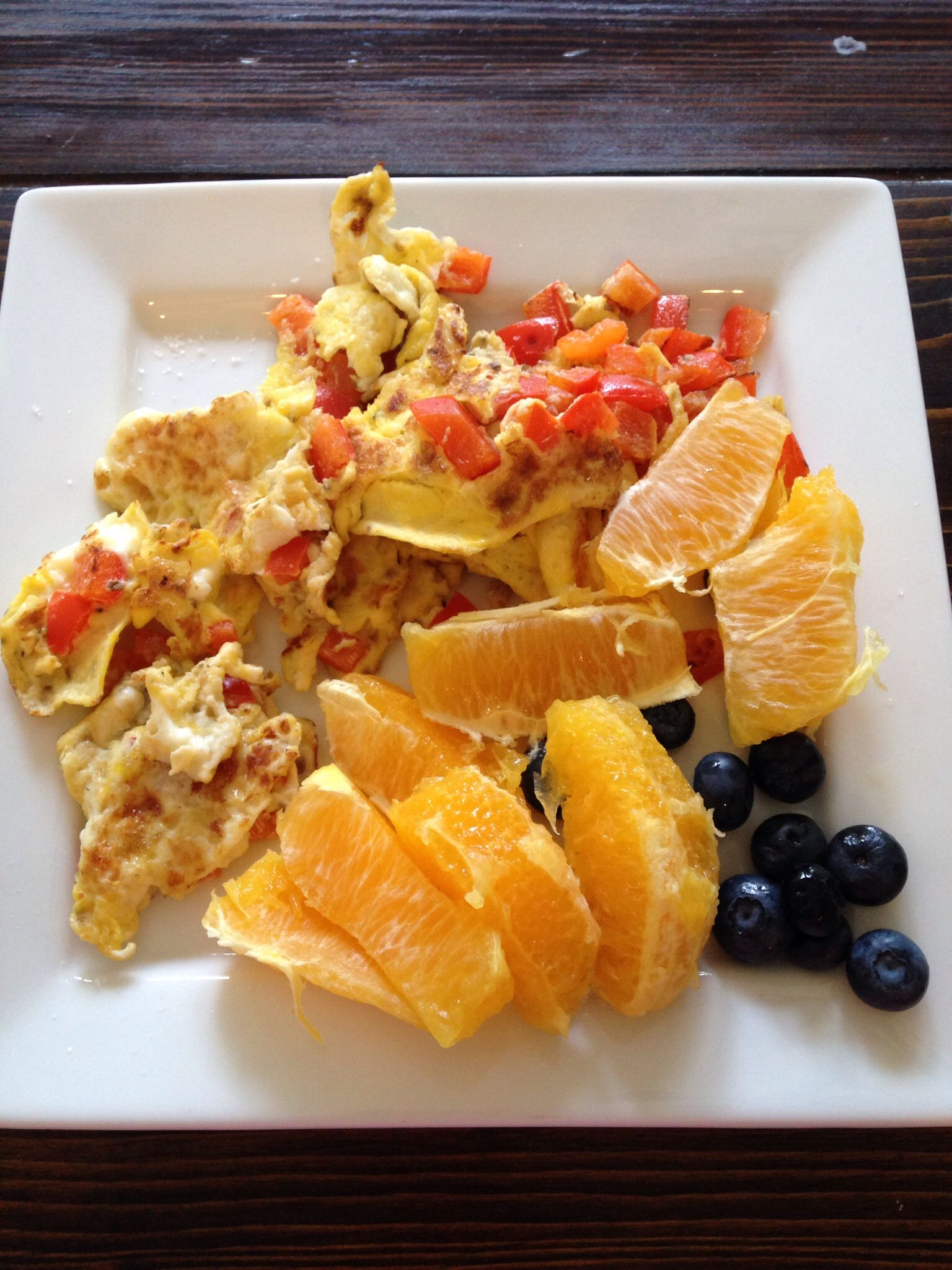 Whole 30 Breakfast Scrambled Eggs And Red Pepper Cooked