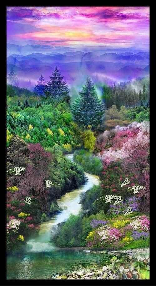 21360 Mountain View Panel Prints Digital Prints Panel Quilts