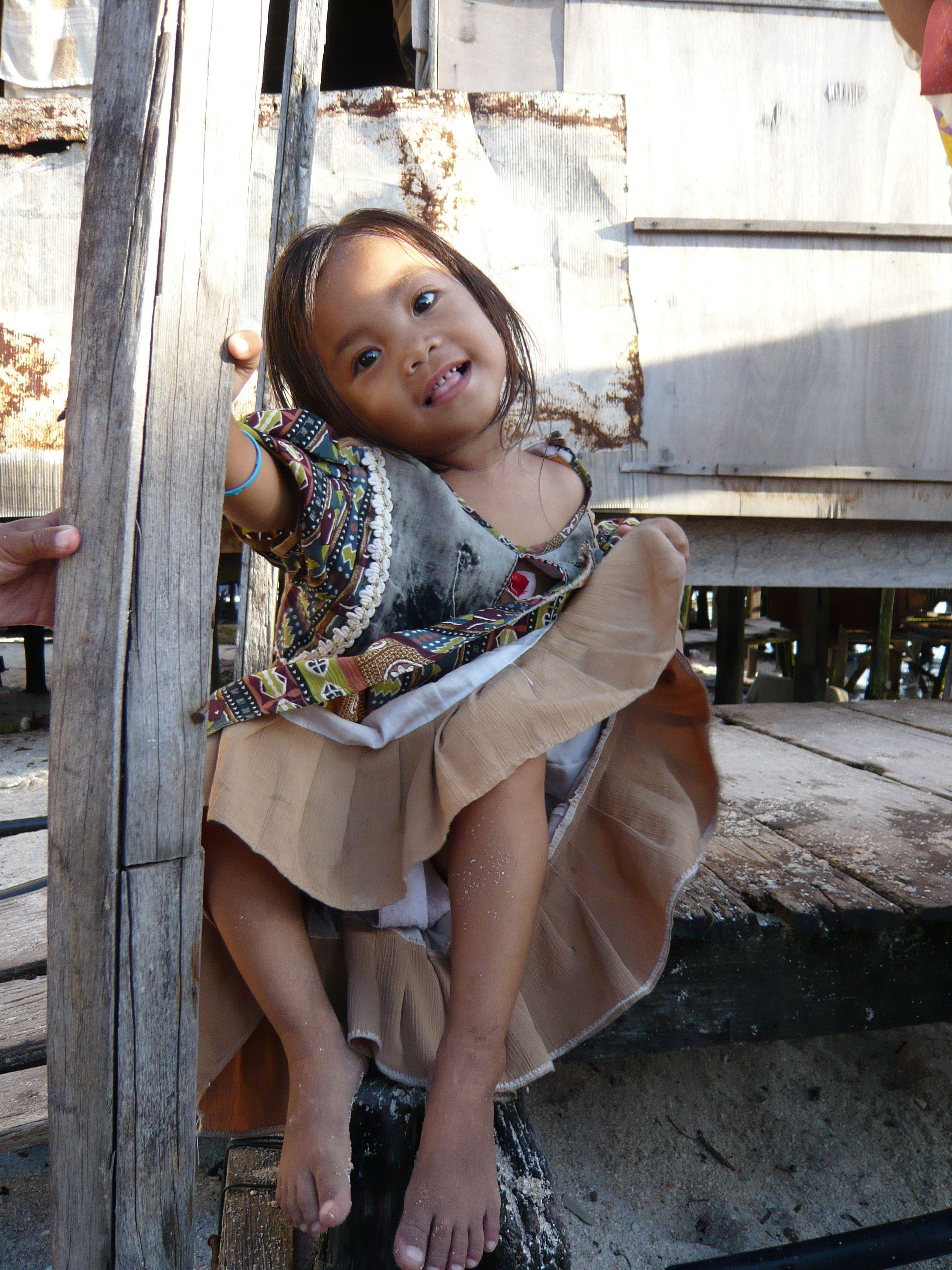 Very Sweet Girl Mabul Borneo Borneo Sweet Girls Young Children Southeast Asia