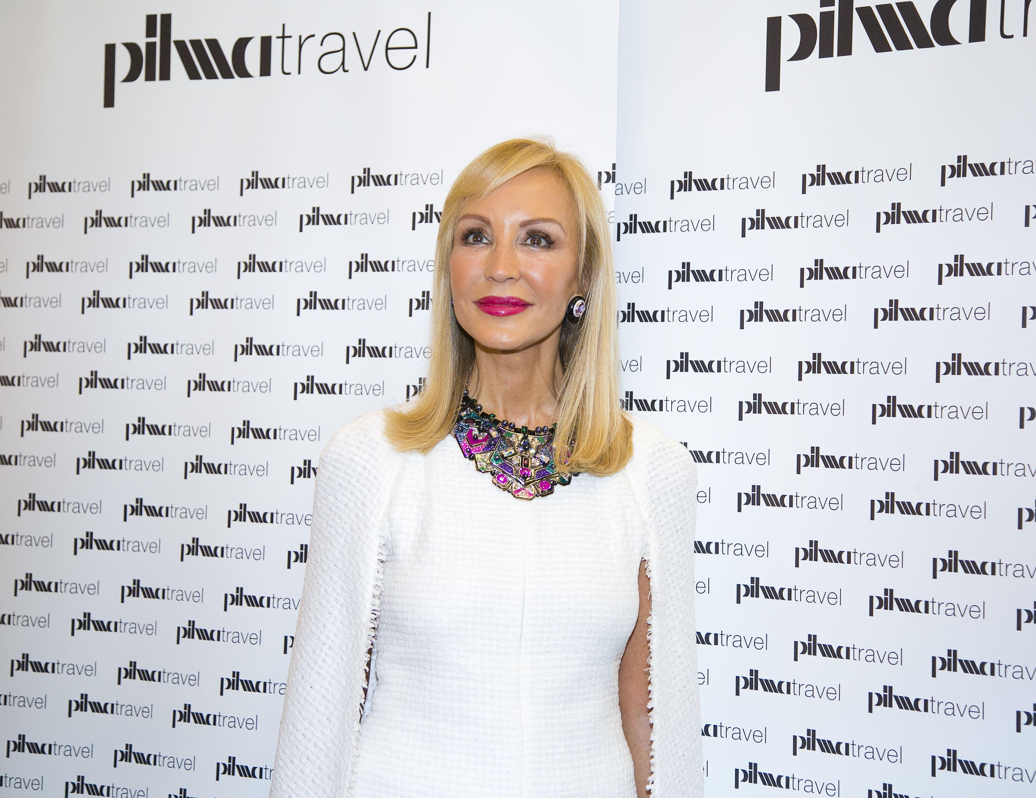 Carmen Lomana durante photocall de Pilma Travel Madrid.