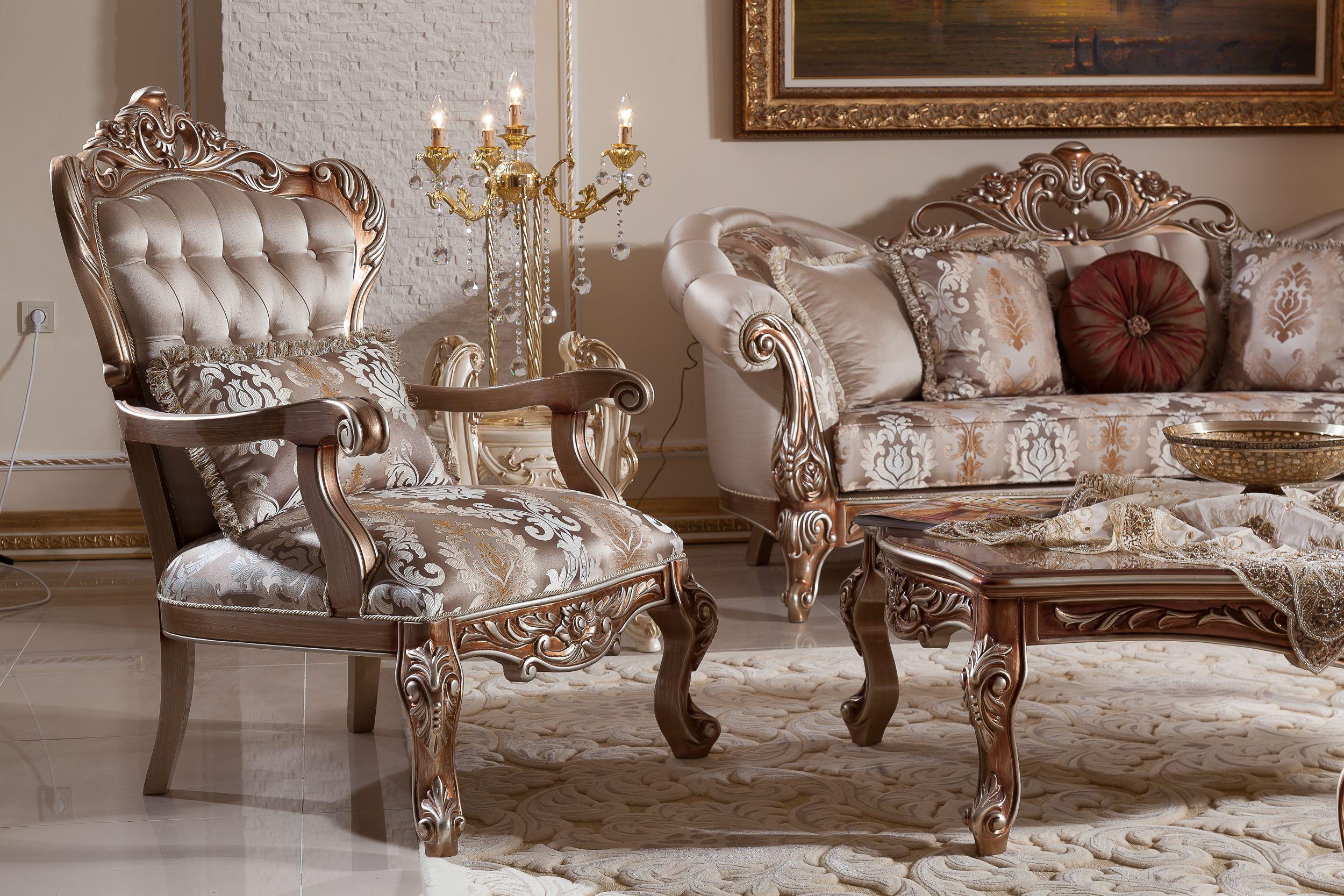 Tugra Sofa Set Handmade Turkish Furniture You Can Give Order This Sofa Set 3 3 1 1 Coffee Tab Classic Sofa Living Room Usa Furniture Luxury Furniture Design #turkish #living #room #furniture