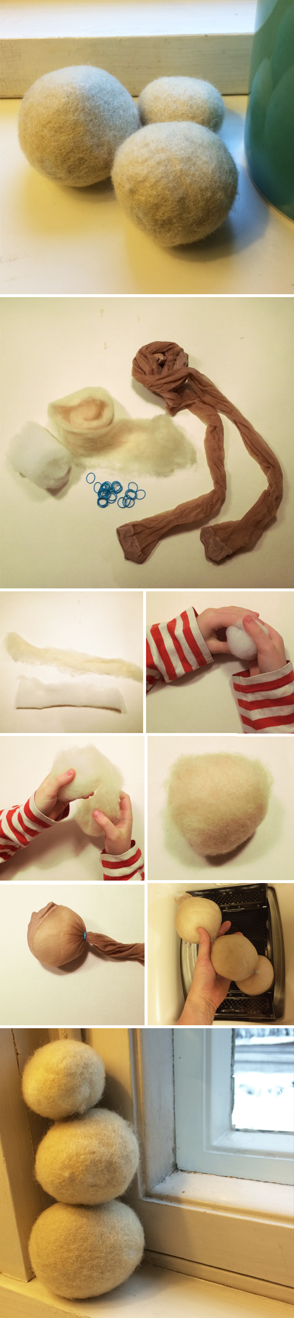 Huopapallojen huovutus pyykinpesukoneessa. lasten | askartelu | joulu | joulukoristeet | käsityöt | koti | DIY ideas | kid crafts | christmas | home | decor | ornaments | Pikku Kakkonen