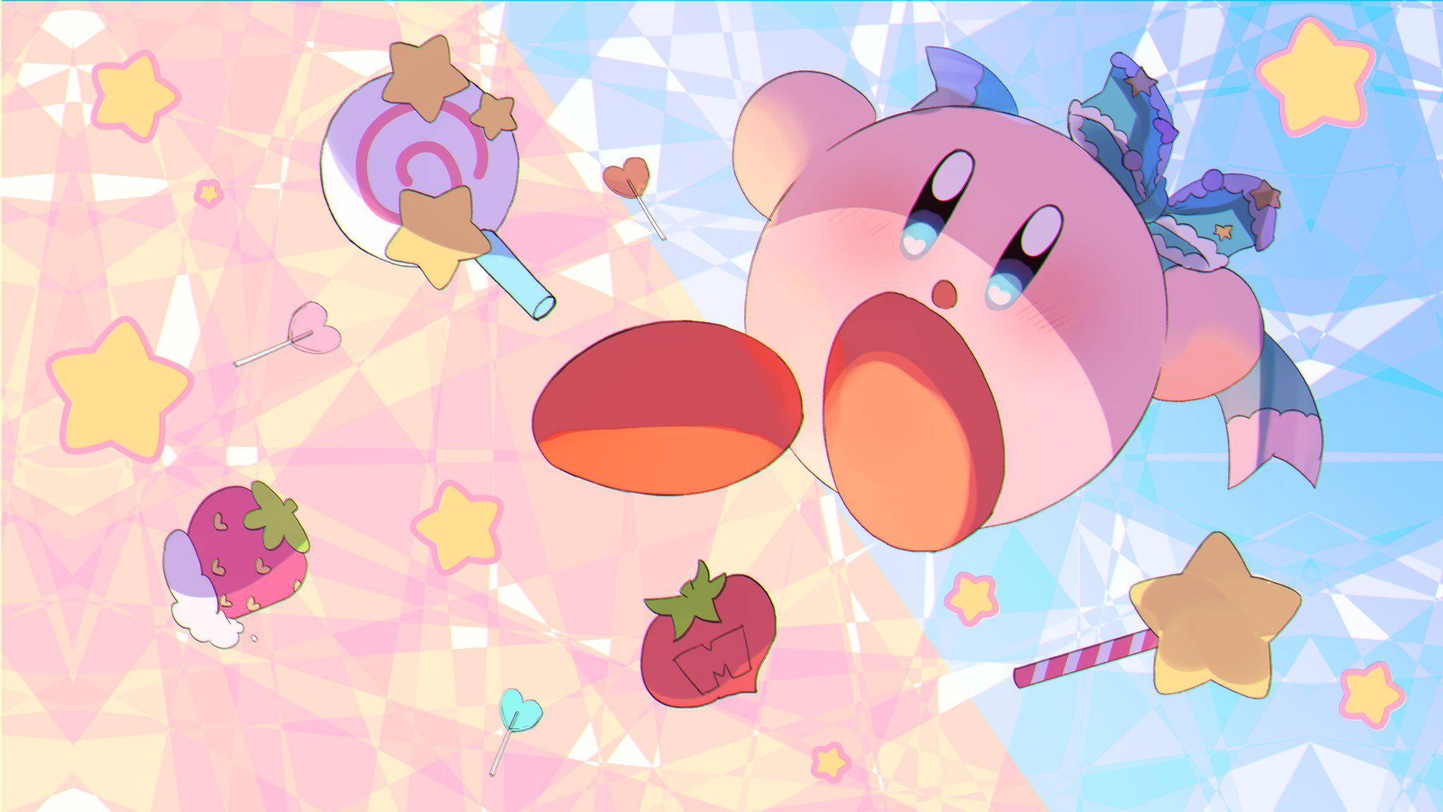 Pin By Lavi On Kirby Cute Laptop Wallpaper Pink Wallpaper Anime Kawaii Wallpaper