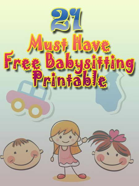Cute Kids Babysitter Flyer | Babysitting Flyer Template