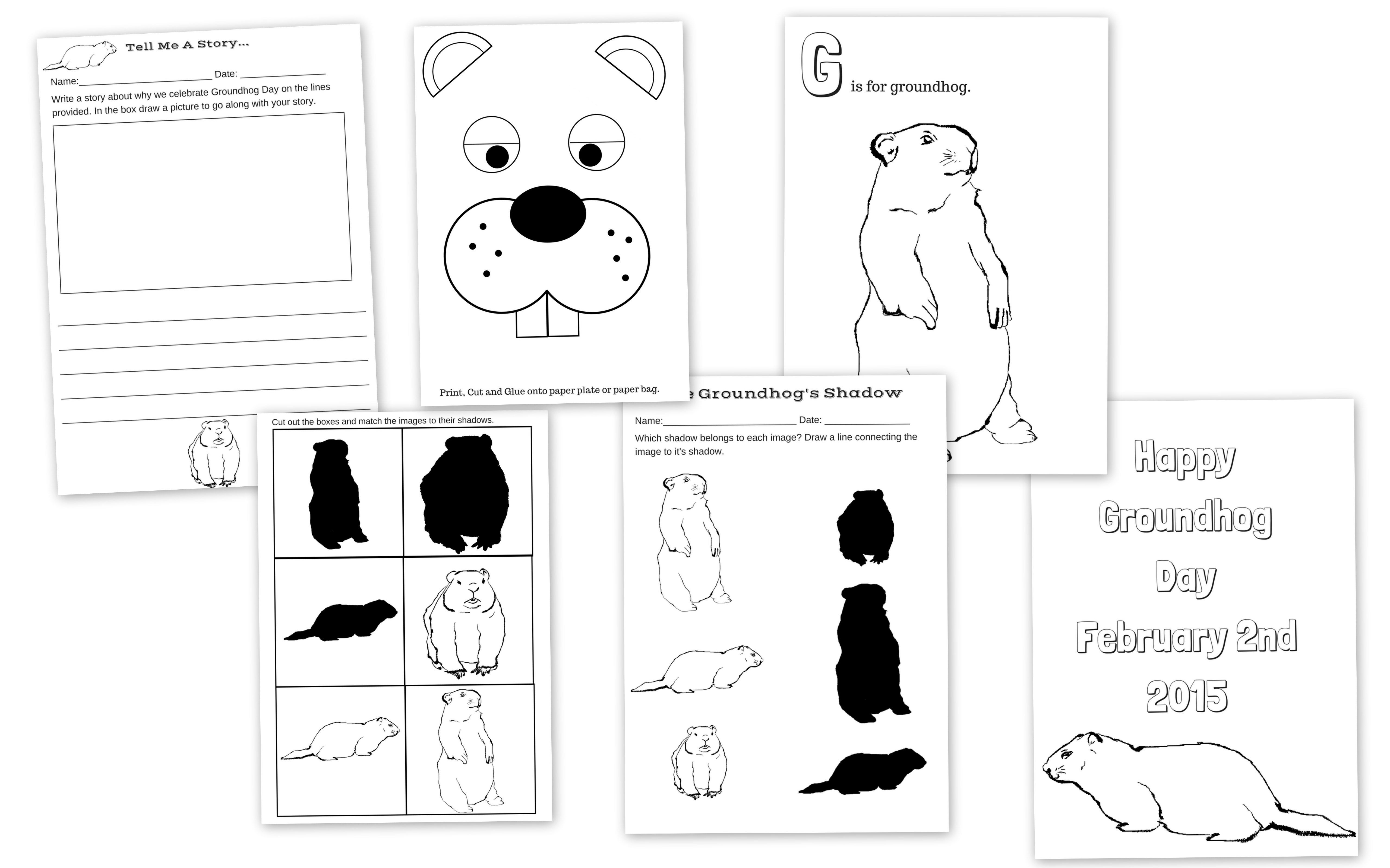 Happy Groundhog Day Groundhog Day Free Printable Activity