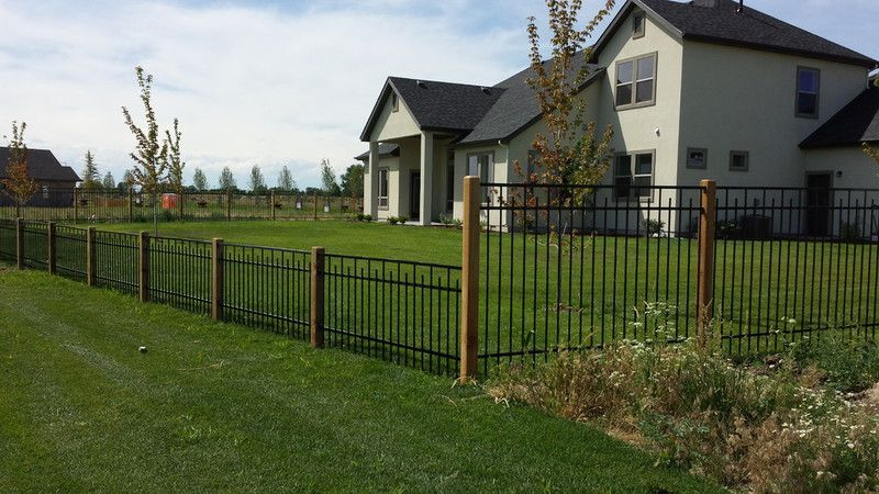 Frontier Fence Custom Iron Fencing Installation Services Boise Wood Post Fence Design Metal Fence