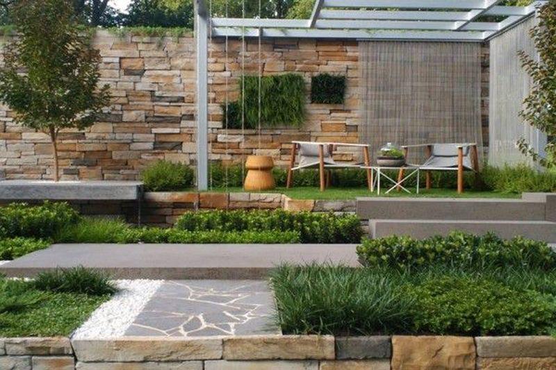 35 Beautiful Front Yard And Backyard Landscaping Ideas Contemporary Garden Garden Design Front Yard