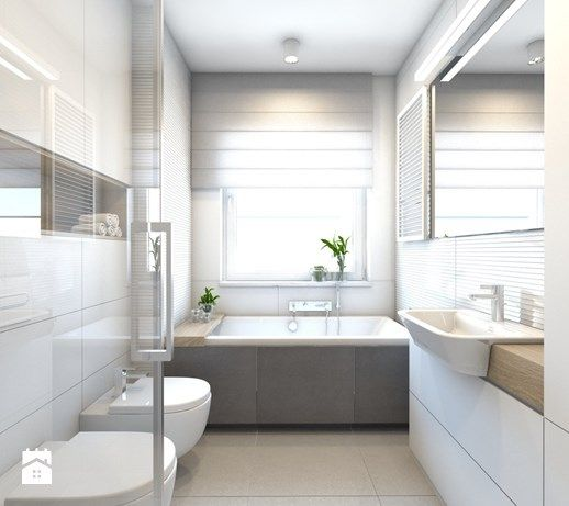 Aranżacje wnętrz - Łazienka: (Pruszków) Projekt mieszkania 3 - Mała łazienka w bloku w domu ...