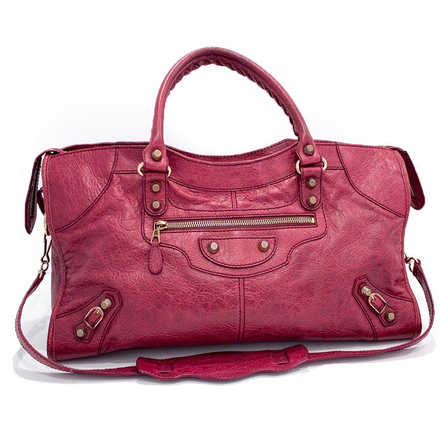 c2ae3111059c Balenciaga Burgundy Giant 12 City Bag