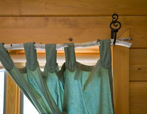tree branch curtain rod make mine rustic pinterest branch curtain rods logs and cabin. Black Bedroom Furniture Sets. Home Design Ideas