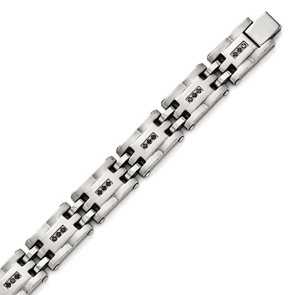 Chisel Polished/Brushed /4ct tw. Diamond Bracelet, Men's