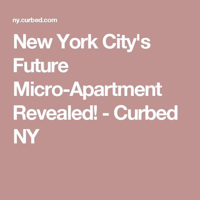 New York City's Future Micro-Apartment Revealed! - Curbed NY