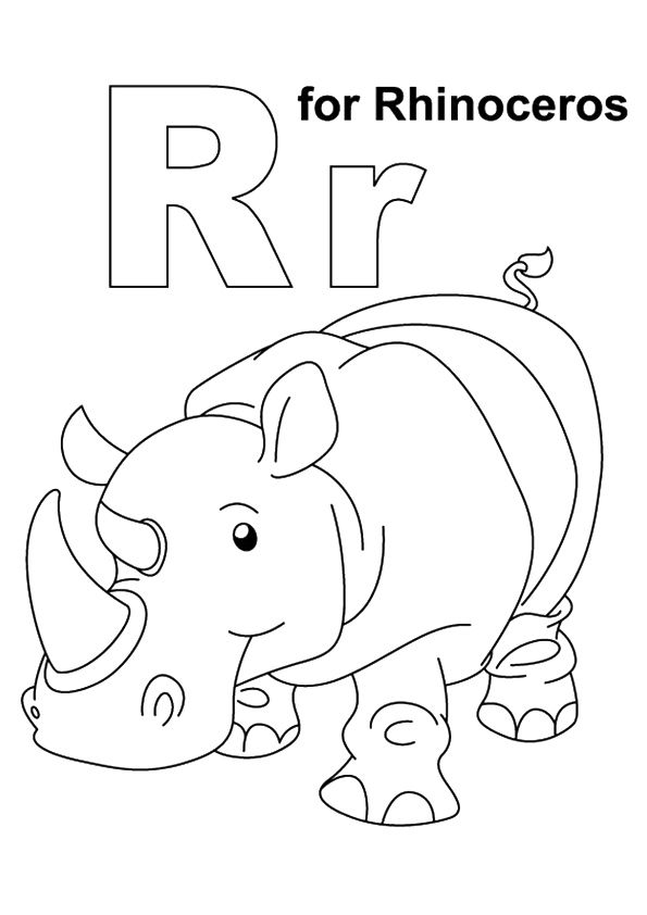 Top 10 Letter 'R' Coloring Pages Your Toddler Will Love To