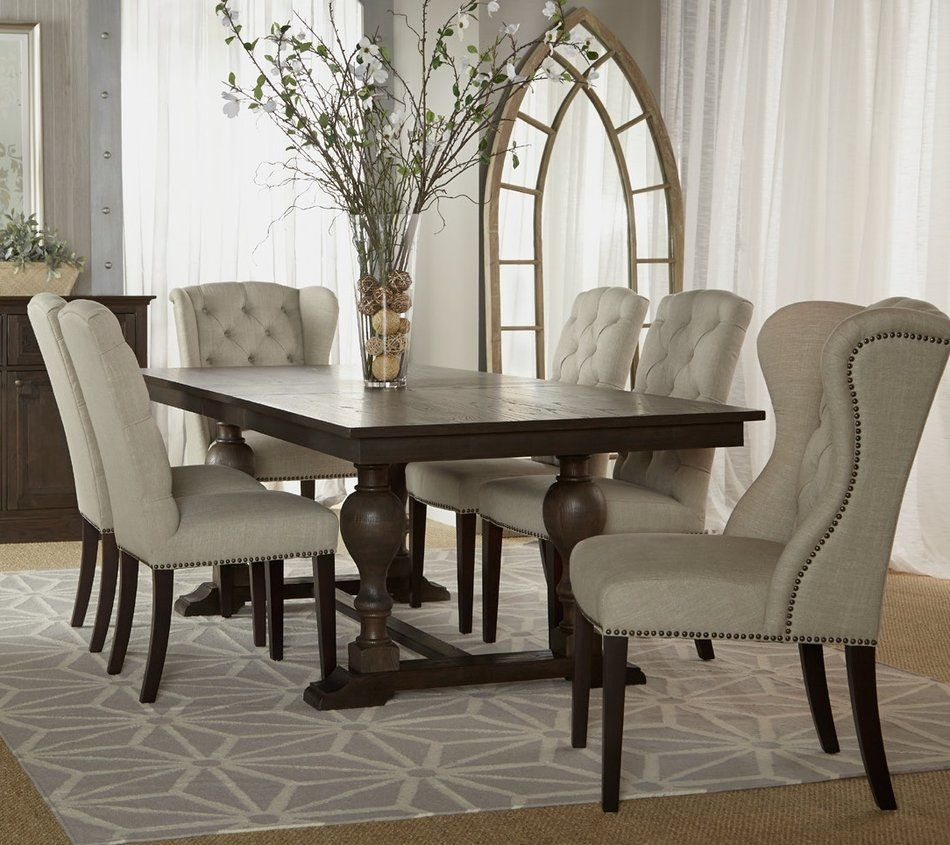 tufted dining room chairs bergere chair for sale grey pinterest