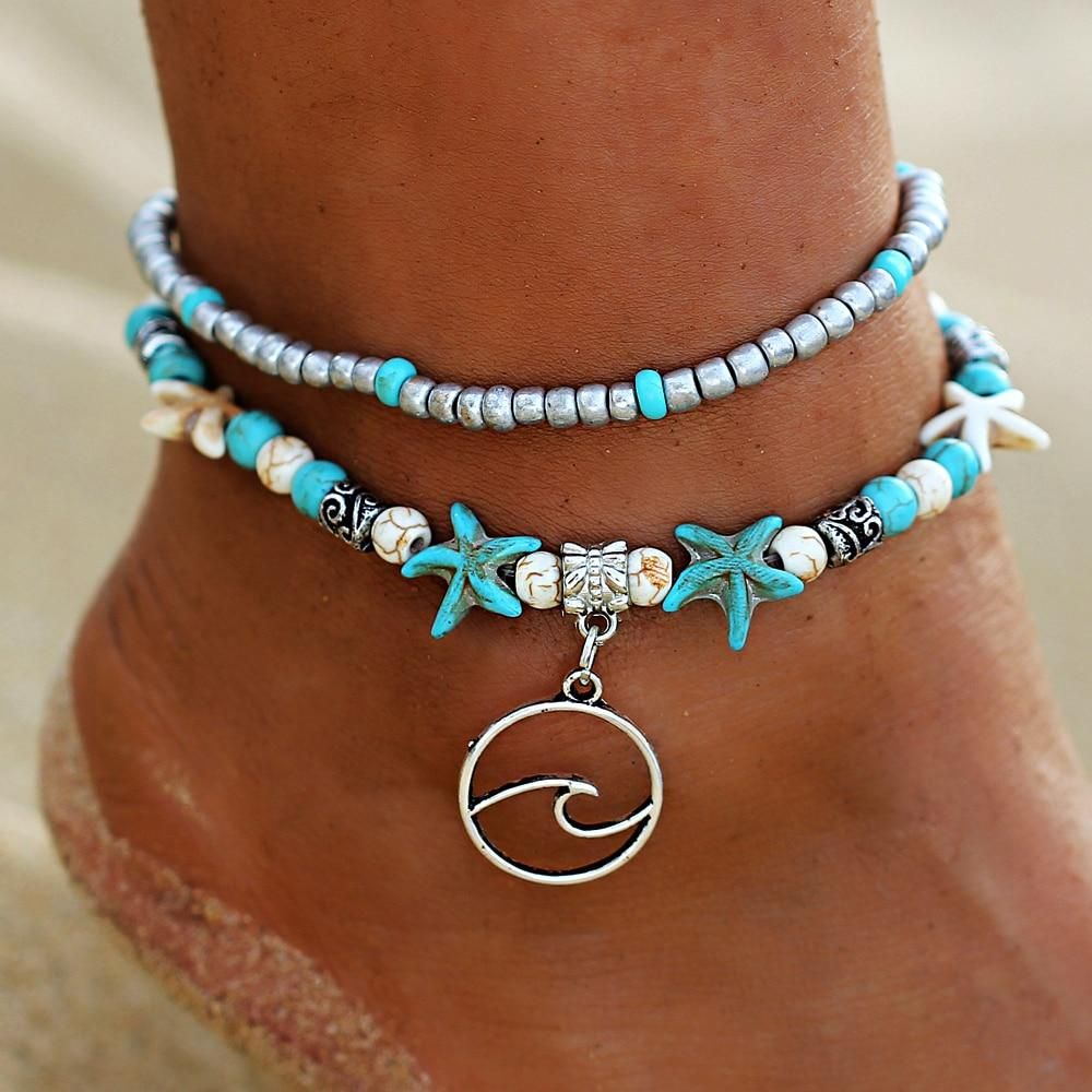 Pink Stone Sea Turtle Bead Hemp Anklet Natural Macrame Handmade Ankle Bracelet To Rank First Among Similar Products Anklets