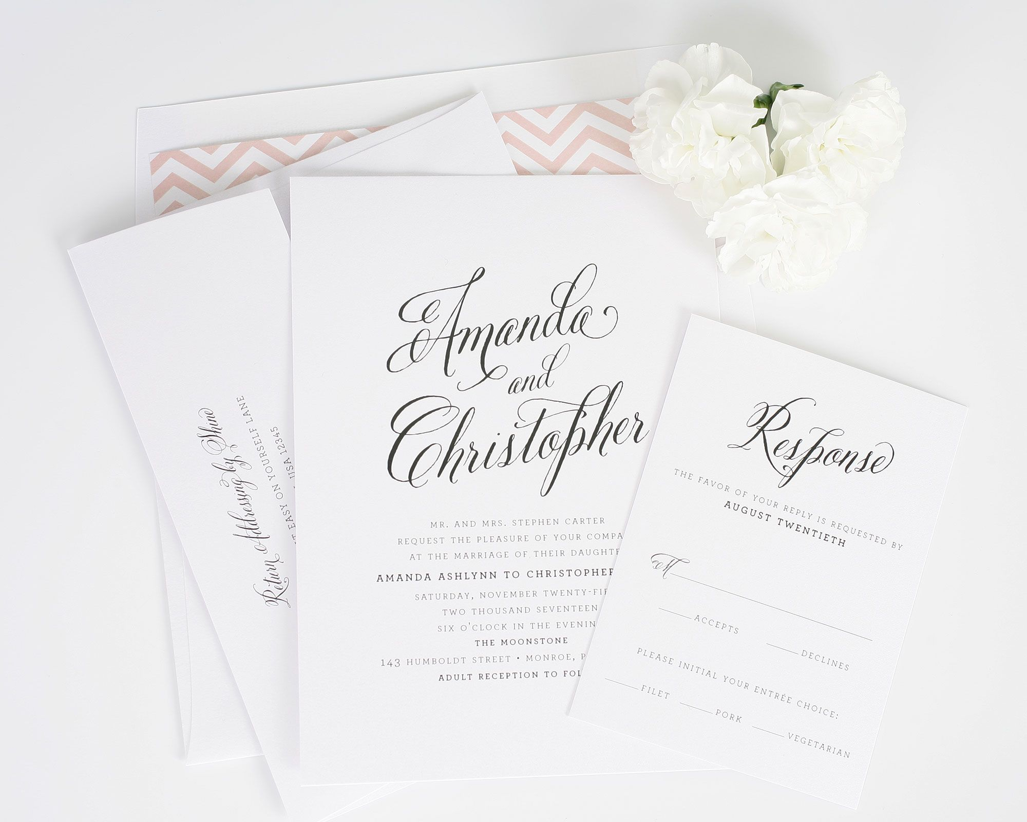 Rustic Modern Wedding Invitations | Chevron wedding invitations ...
