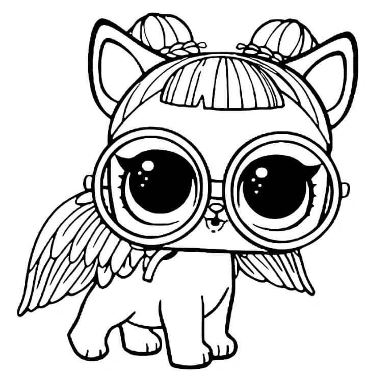 LOL Pets Coloring Pages Free Sugar Pup | Unicorn coloring ...