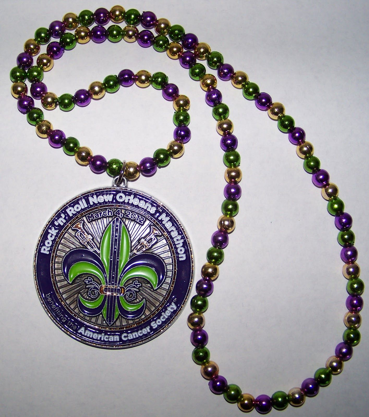 Just, Mardi Gras beads, people.