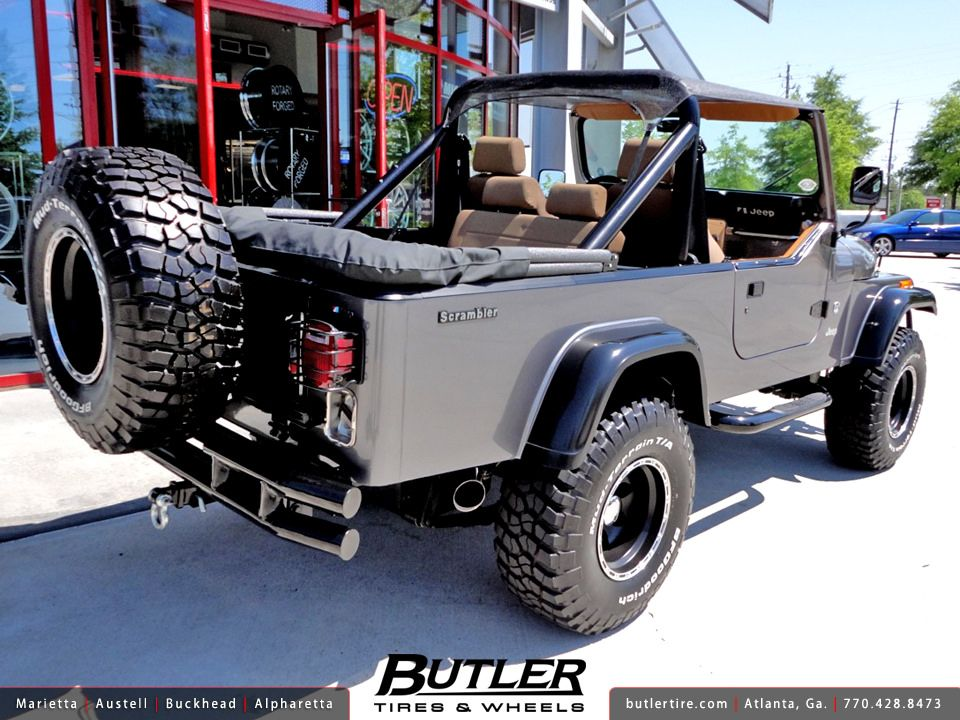 Jeep Scrambler With 15in American Eagle 185 Wheels And 33in Bf