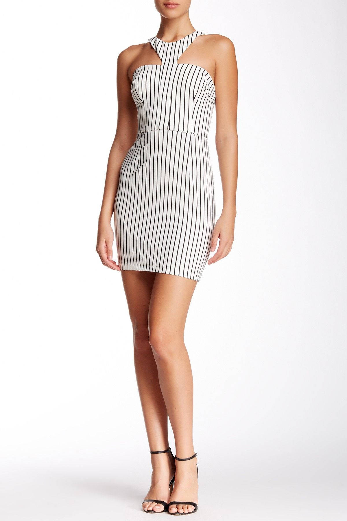 Hailey Logan by Adrianna Papell | Striped Ottoman Fitted Dress | Nordstrom Rack