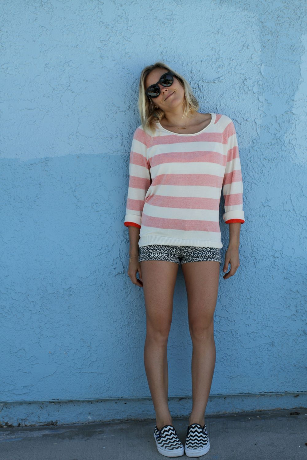 0d667d9702b90e Leila Hurst looking cute in head-to-toe Vans Girls footwear and apparel