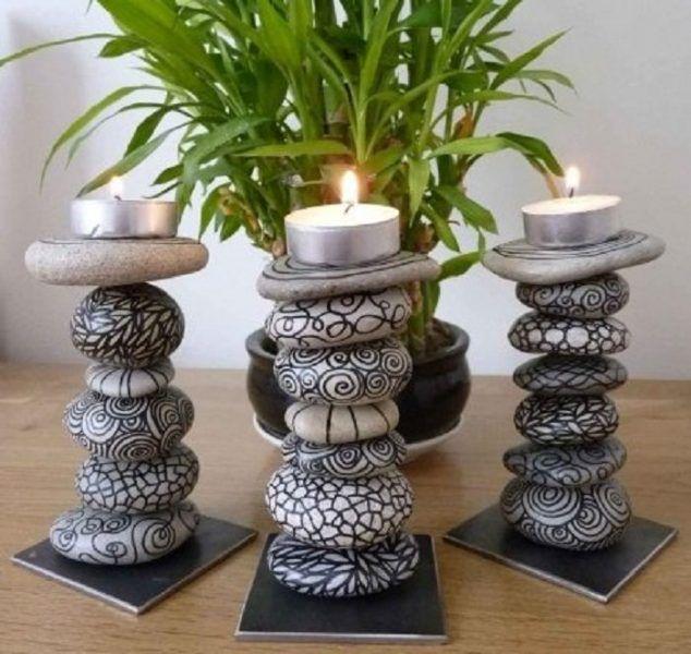 15+ Ideas Fáciles y Creativas para Decorar la Casa con Piedras ...