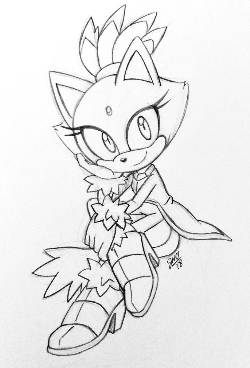 Blaze The Cat Sonic Art Sonic Fan Art Art