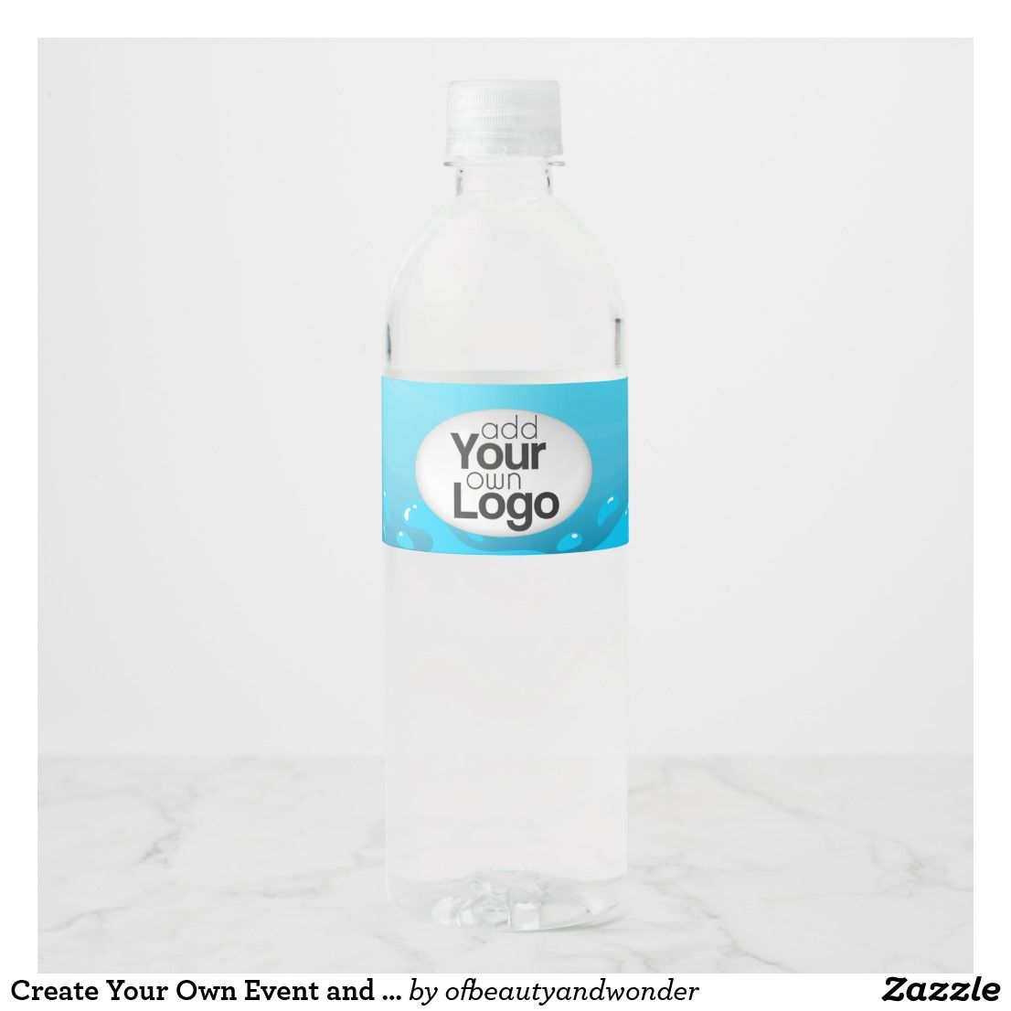 Create your own event and occasion bottled water water