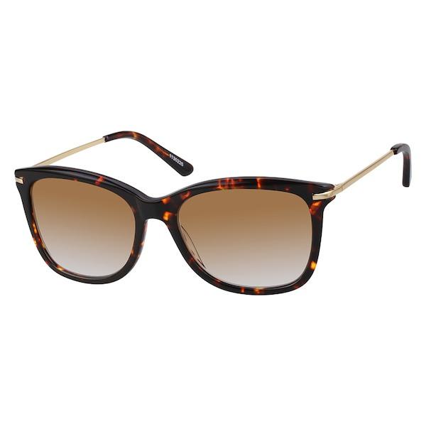 7cd3d74dc0 Zenni Womens Square Rx Sunglasses Tortoiseshell Mixed Materials 1130225