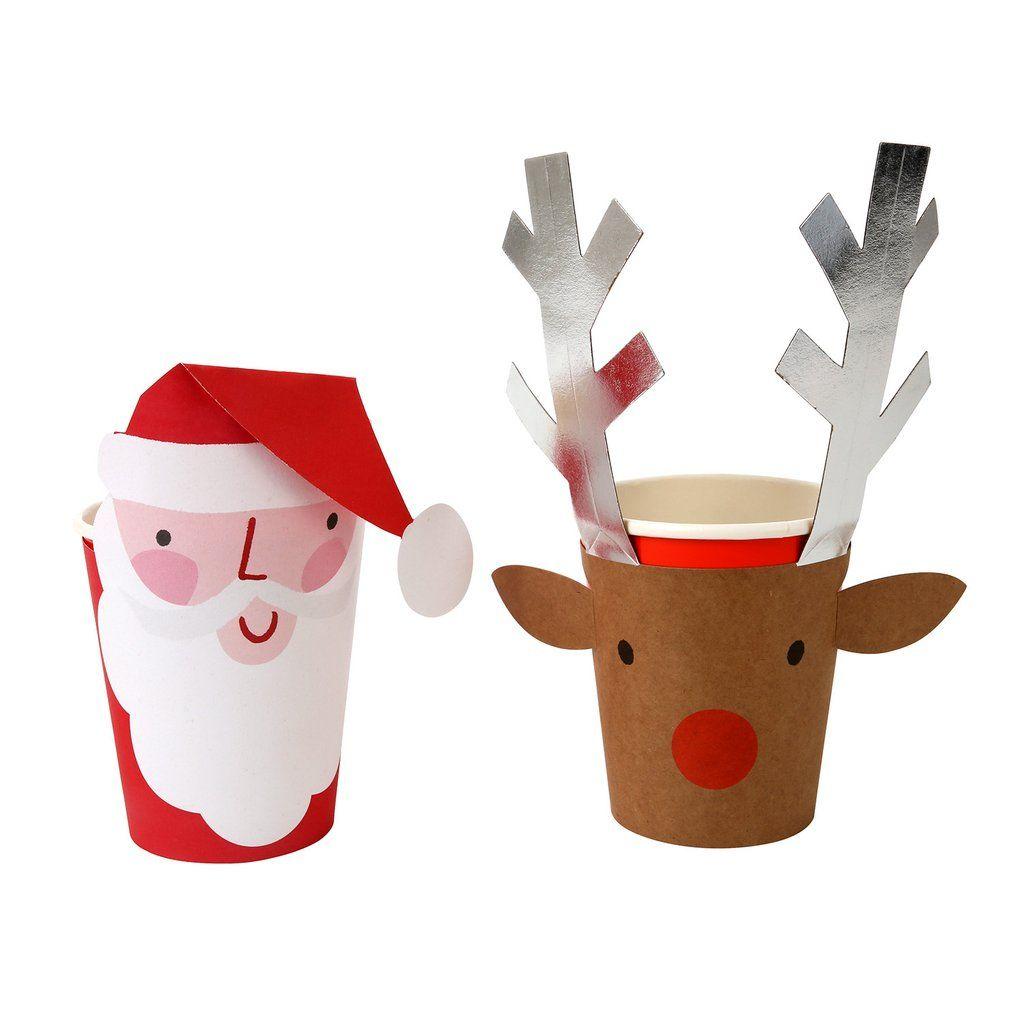 Santa Amp Reindeer 8 Party Cups