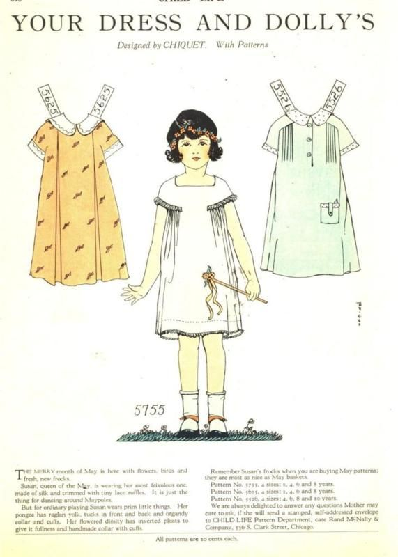 1927 chiquet paper doll with dresses 5755 | eBay