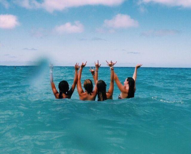 #beach #bestfriends #besties