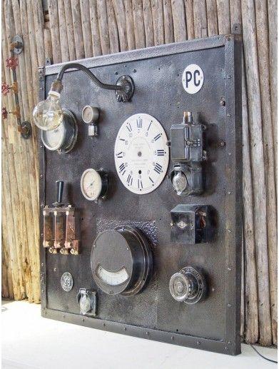 Tableau électrique industriel Objets, Meubles  Décoration indus - Photo Tableau Electrique Maison