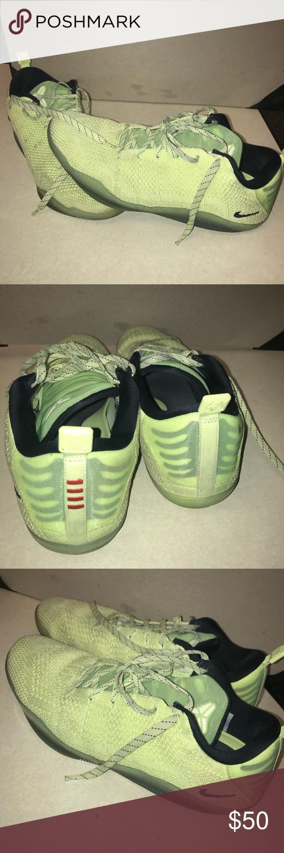 "97367e1f82b9 Nike Kobe 11 4kb ""liquid lime"" Nike Kobe 11 4kb ""liquid lime"" basketball  shoes Nike Shoes Athletic Shoes"