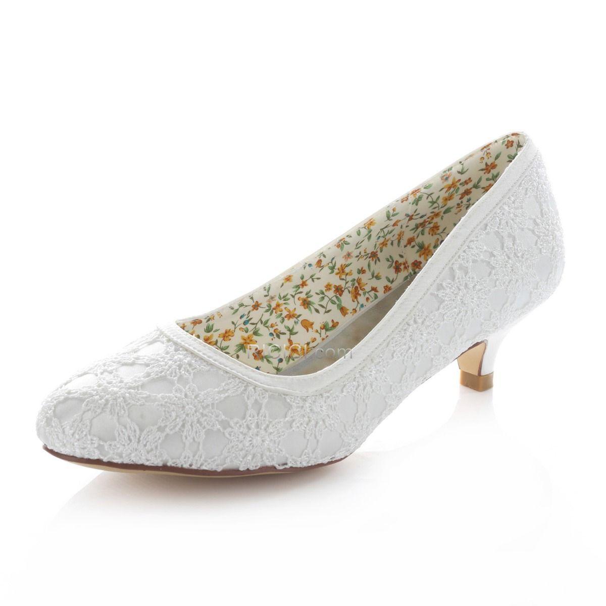 21++ White wedding kitten heels info