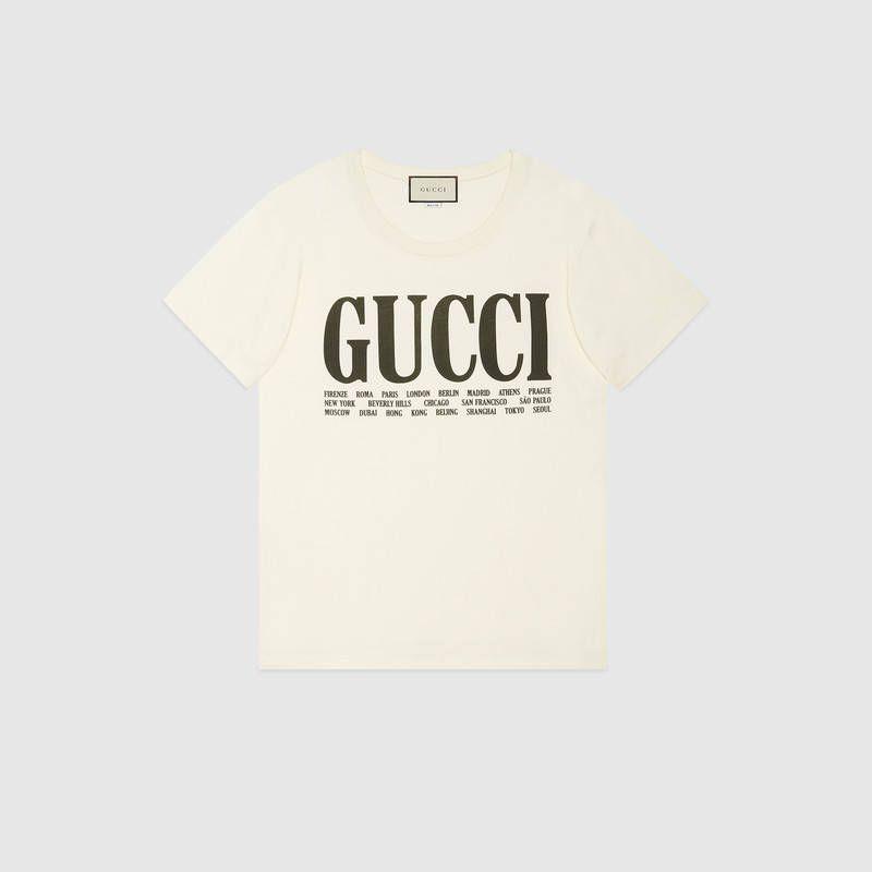 40d5dfa6 Gucci - Gucci Cities print T-shirt | TOPS ETC. | Shirts, Gucci ...