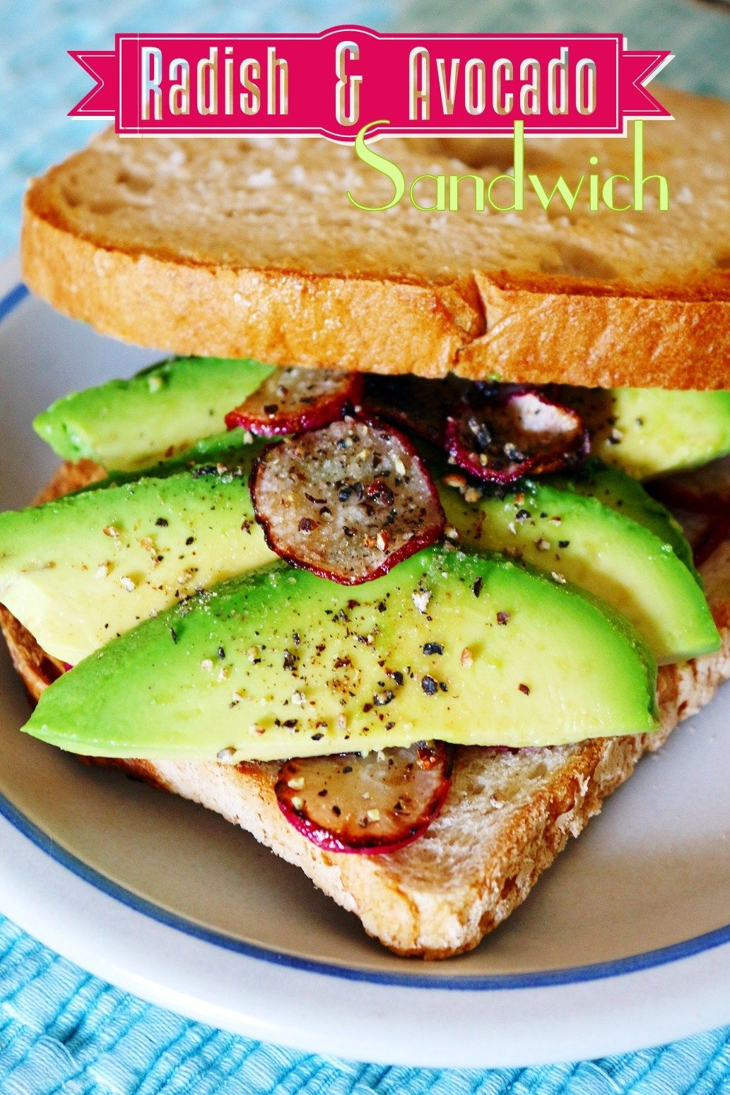 Radish Avocado Sandwich Quick Easy Vegan Plant Based Lunch Planted365 Recipe In 2020 Avocado Sandwich Quick Easy Vegan Vegan Breakfast Easy