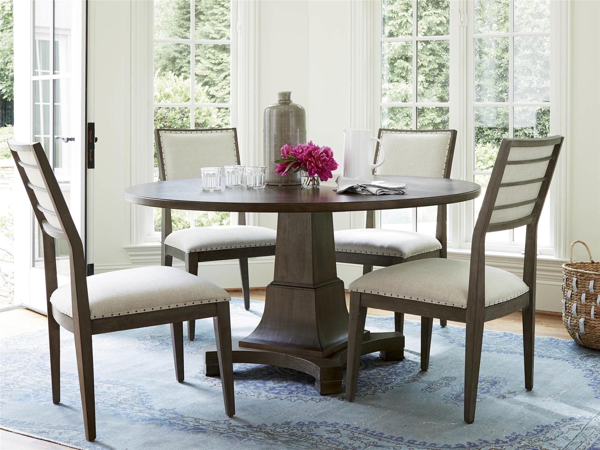 Round dining table and chairs for 4  Universal Furniture  Playlist  Round Dining Table  Playlist