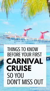 Tips for first time Carnival cruise  Caribbean cruises