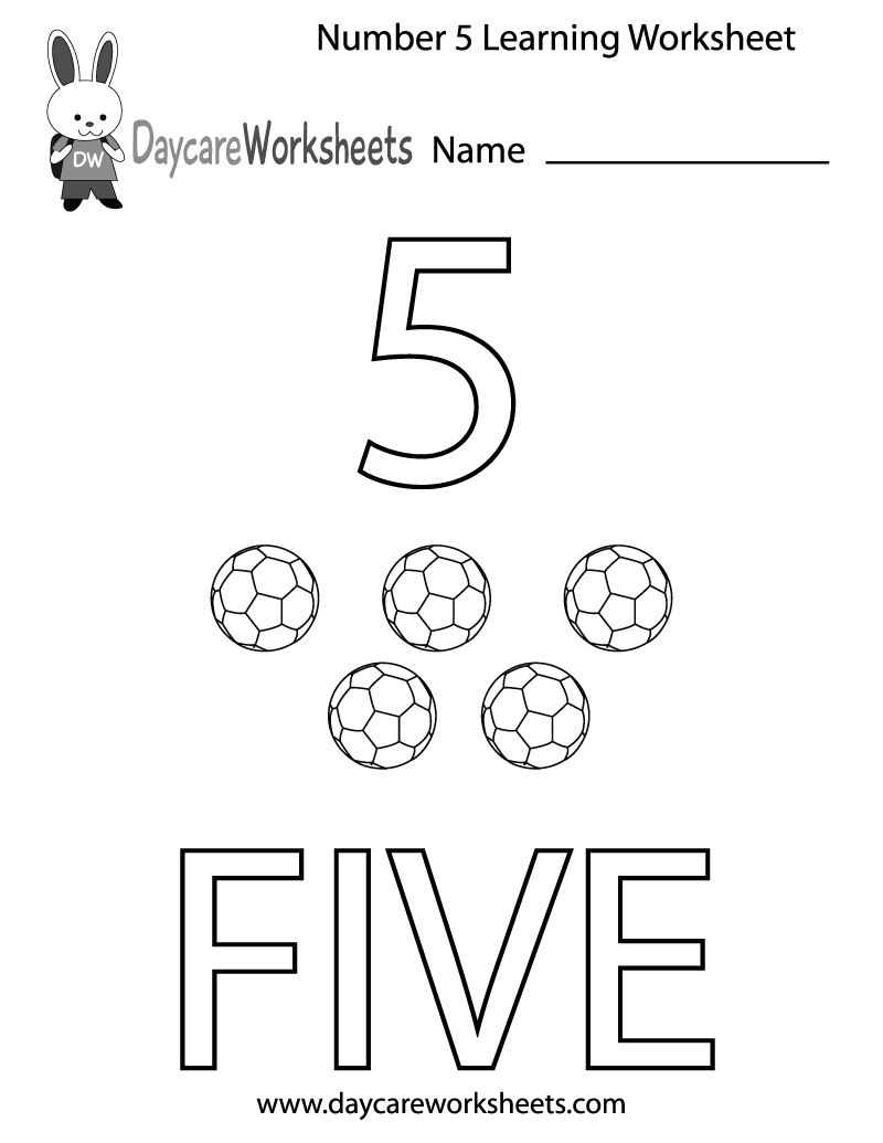 worksheet Preschool Learning Worksheets this free printable worksheet helps preschoolers learn the number five by coloring in number