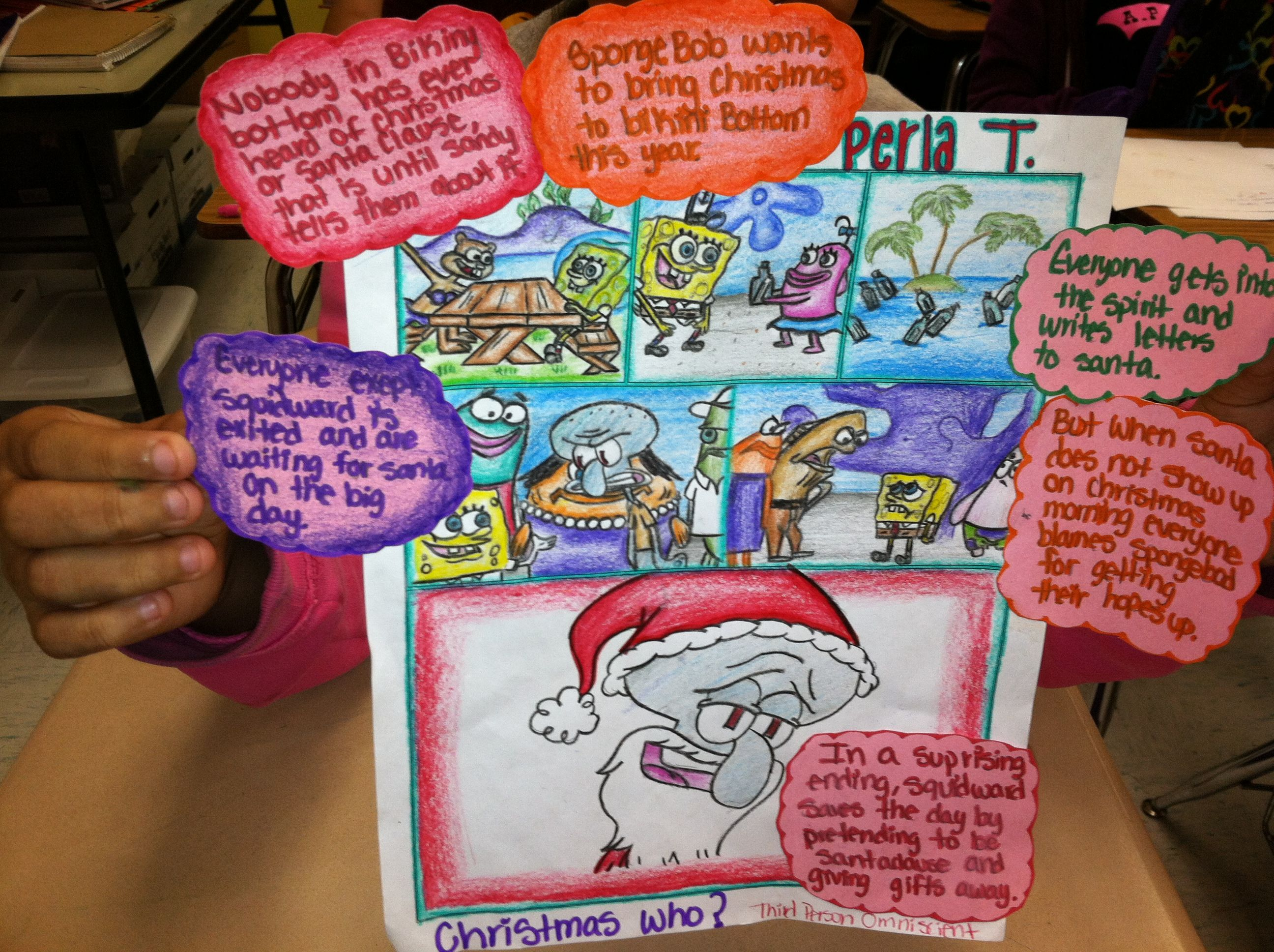 3rd Person Point Of View Omniscient Comic Strip 8th Grade