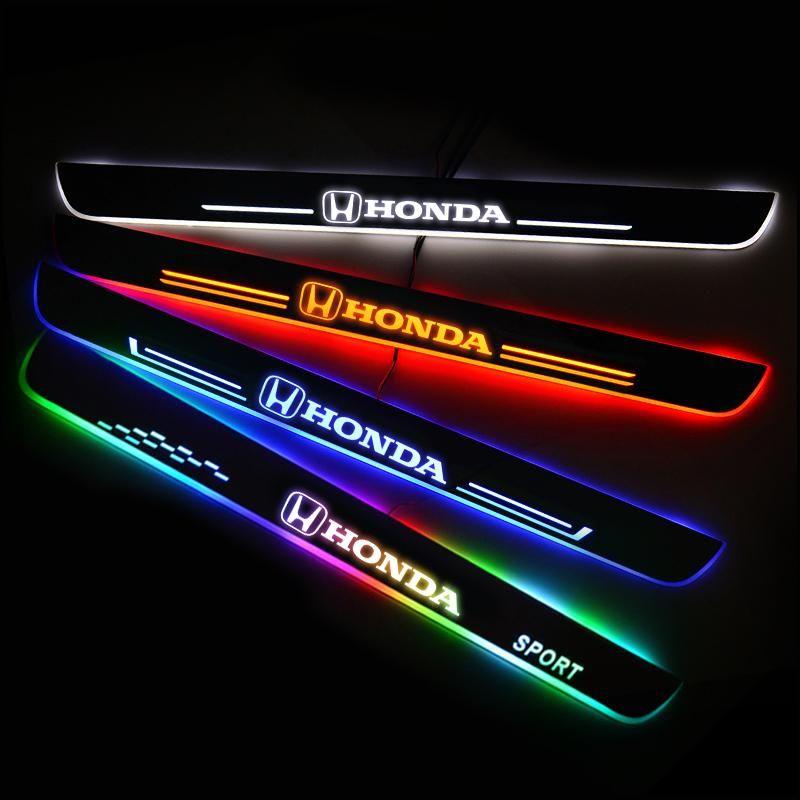 Honda Compatible Illuminated Door Sills For Car Light