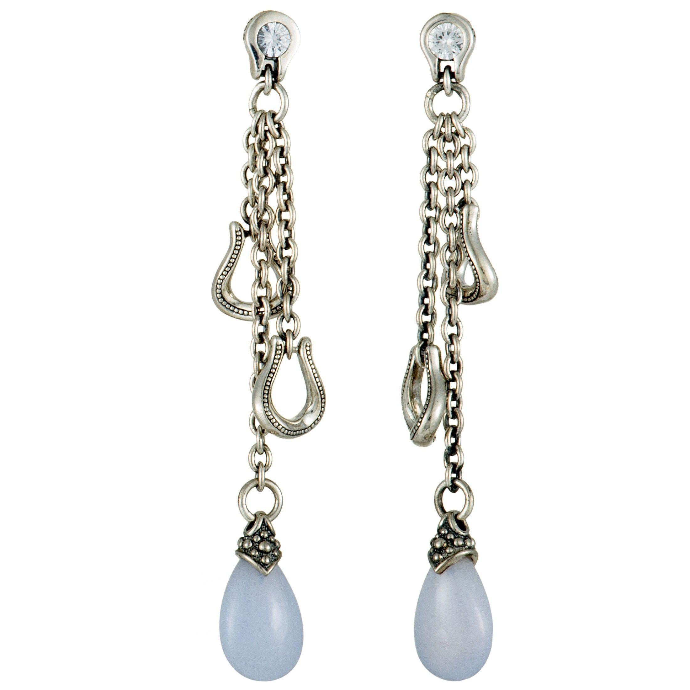 Sterling Silver Ball Cluster Push Back Dangle Earrings