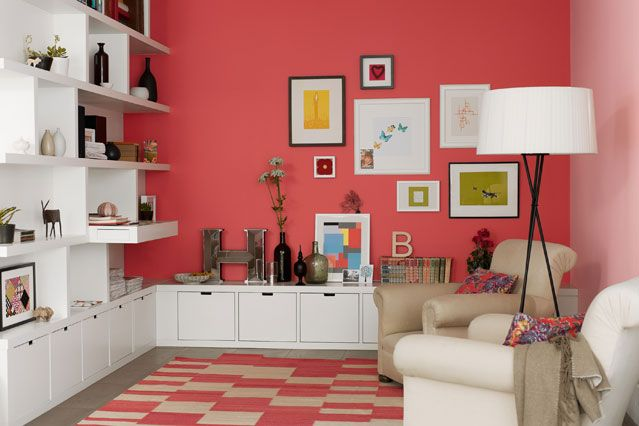Cool Coral | Coral walls, Pink home decor and Dulux paint colours